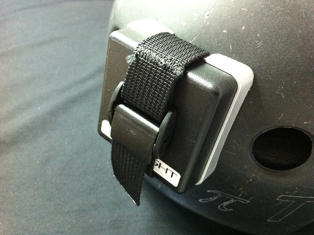 aluminum mount on helmet